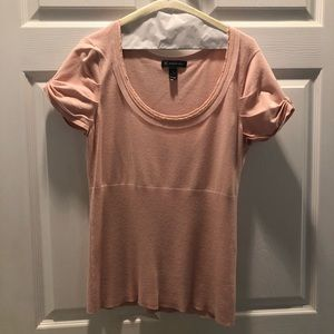Fitted blush knit top